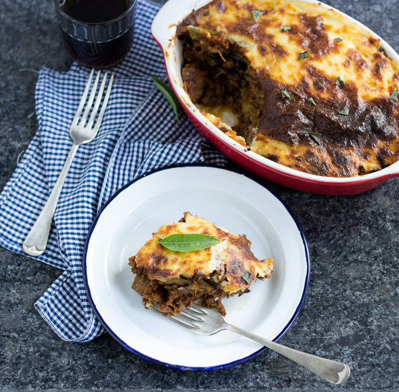 Beef And Lentil Moussaka The Blurry Lime